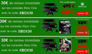 code promo XBOX ONE 30 euros