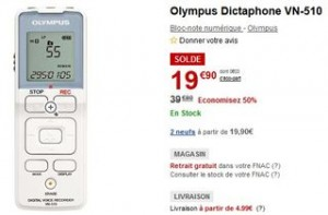 dictaphone Olympus VN-510 SOLDES