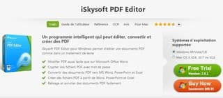 GRATUIT convertisseur PDF vers DOC XLS PPT iSkysoft PDF Editor complet