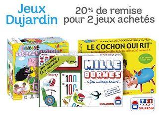 jeux Dujardin pas chers code promo 1 jeu Dujardin / TF1 Games acheté = le 2ème 100% remboursé   ODR Noel 2013