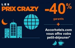 les prix crazy Accor 2014