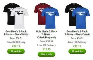 lot de 2 tshirt Gola promo