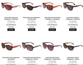 lunettes de soleil Calvin Klein pas cheres