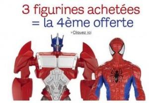 offre 1 figurine Hasbro offerte pour 3 achetes