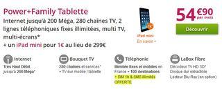 offre Numéricâble / Tablette iPad Mini à 1 euro.