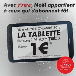 Pack Canal+ / CanalSat  + 1 tablette Samsung Tab 3 pour 1 euro