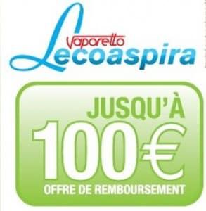 100 euros remboursés sur les Aspirateur et Nettoyeur Vapeur Vaporetto Lecoaspira