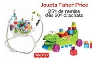 jouets Fisher Price bénéficiant de l'offre -25 %