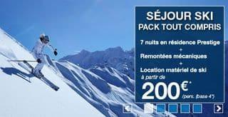 sejour Ski Carrefour 200 euros