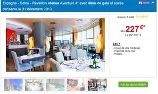 227 euros r veillon mercure atenea aventura espagne avec d ner et soir e dansante 3 nuits 4. Black Bedroom Furniture Sets. Home Design Ideas
