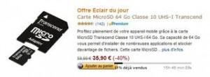 carte Micro SD 64Go pas chère