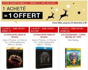 1 BLU-RAY ou DVD gratuit FNAC