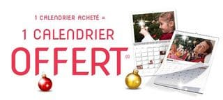 1 calendrier photo offert