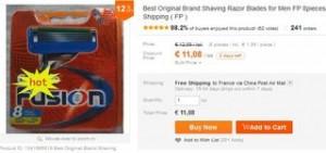 11 euros les 8 lames Gillette Fusion