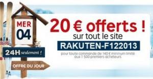 20 euros remise pour 140 euros d'achats PriceMinister (48h uniquement)