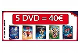 40 euros les 5 DVD Disney aux choix (livraison gratuite)