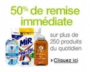 50 pourcent remise produits entretien hygiene et animaux