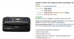 95 euros l'appareil photo 3D Fujifilm FinePix W3