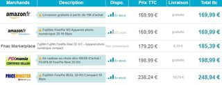 Appareil photo 3D Fujifilm FinePix W3 moins cher