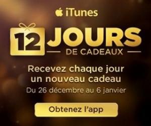 Application 12 jours de cadeaux iTunes