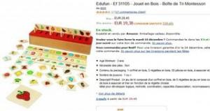 Boite de Tri Montessori Edufun pas chere