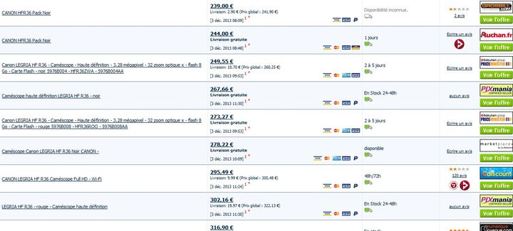 Vente flash canon legria hfr36 179 euros au lieu de plus de 240 euros - Vente flash definition ...
