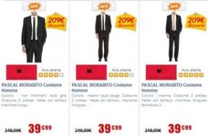 Costume Pascal Morabito a moins de 40 euros au lieu de 249 euros