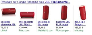 Enceinte JBL Flip rouge Bluetooth moins chere