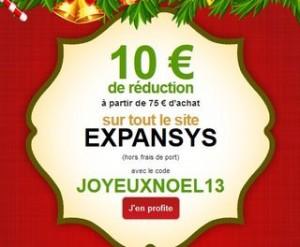 Expansys 10 euros pour 75 euros