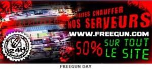 Tout le site Freegun à moitié prix