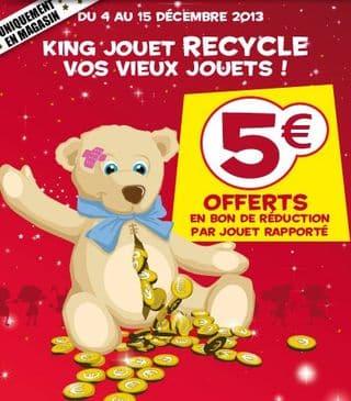 King Jouet reprend les vieux jouets 5 euros