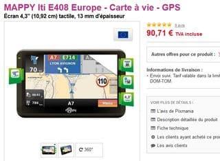 Mappi Iti E408 pixmania