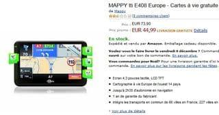 Moins de 45 euros le GPS MAPPY Iti E408 Europe