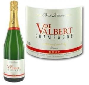 Moins de 60 euros les 6 bouteilles de champagne De Valbert Brut port inclus