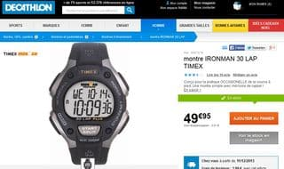 Montre Timex Ironman 30 Lap Decathlon