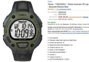 Montre Timex Ironman 30 Lap PROMO