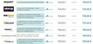 Ordinateur Portable Sony Vaio 17 pouces moins cher