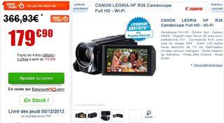PROMO Camescope numerique HD Canon Legria HFR36