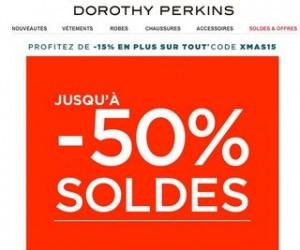SOLDES jusqu'à moins 50% + 15% supplémentaires chez Dorothy Perkins (code promo)