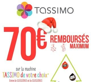 Cafetière à dosettes TASSIMO 100% remboursée le 13,14 et 15 decembre