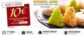 Traiteur Auchan 10 euros de remise