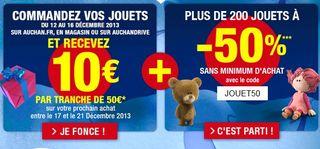 bon plan jouet moitie prix Auchan
