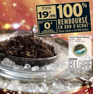 caviar gratuit Interrmarche