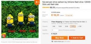 cle USB 64Go Minions Rush a 10 euros