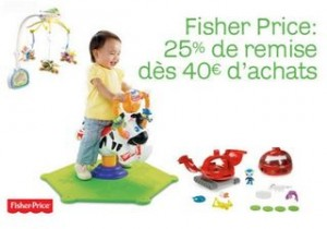 code promo Fisher Price