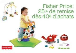 25 de remise sur les jouets fisher price d s 40 d achat. Black Bedroom Furniture Sets. Home Design Ideas