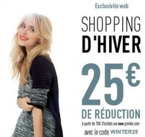 Pimkie : 25 euros de remise pour 70 euros d'achats
