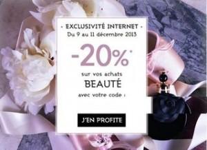 code promo beaute galeries lafayette