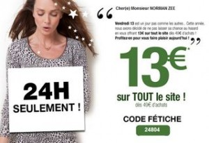 X DamartX code promoX bon plan vêtements
