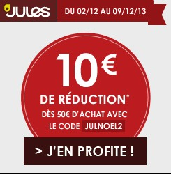 code promo jules 10 euros